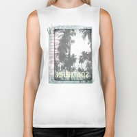 tropical Biker Tanks featuring tropical by ulas okuyucu