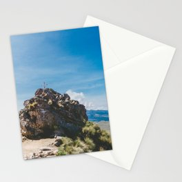Cross at the top of the Iztaccihutal Volcano, Mexico City Stationery Cards