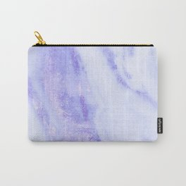 Shimmery Sky Blue Indigo Marble Metallic Carry-All Pouch