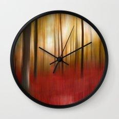 Autumn Forest Wall Clock