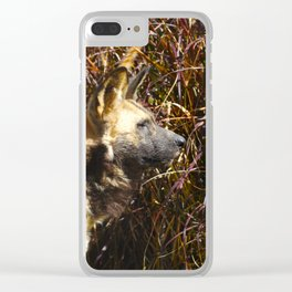 Oliver the African Wild Dog Clear iPhone Case