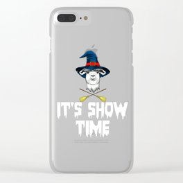 Witch Llama, It's Show Time Funny Halloween Horror Scary Clear iPhone Case