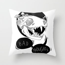 Bad Thoughts v.2 Throw Pillow