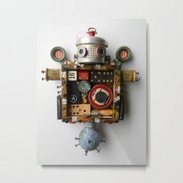 Scrap Bot Metal Print