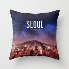 Seoul Wallpaper Throw Pillow