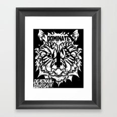 Satanic tiger Framed Art Print