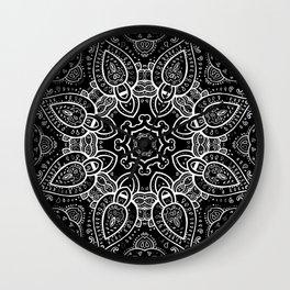 Black & White Paisley  Wall Clock