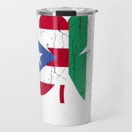 Ireland Irish Puerto Rican St Patrick's Day design Travel Mug