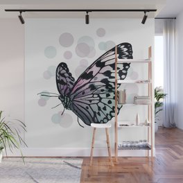 Bokeh Butterfly_Left Facing Wall Mural