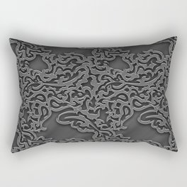 Floral embossing - chrome Rectangular Pillow