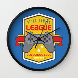 Geeky Gamer Chic Classic Vintage Gaming PSX Inspired Vintage Gamer League Old School Cool Wall Clock