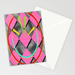 colored abstraction Stationery Cards