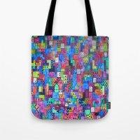 tetris Tote Bags featuring Tetris by fieltrovitz