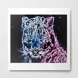 Cosmic Space Leopard Metal Print