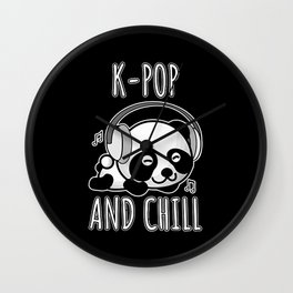 K-Pop And Chill 2 Wall Clock