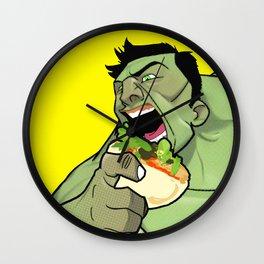 Hulk Eat Wall Clock