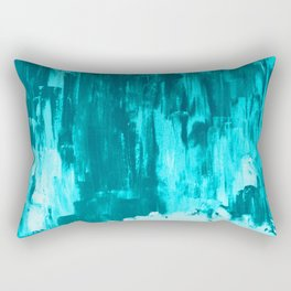 Bright Blue Snow Nights with Icicles Rectangular Pillow