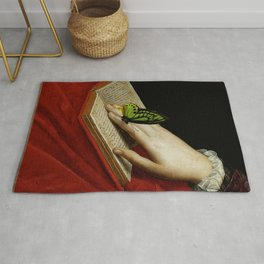 Gentle Reader Cropped Art Rug