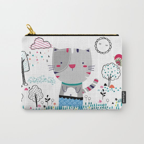 Cat in the Garden Carry-All Pouch