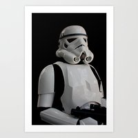stormtrooper Art Prints featuring Stormtrooper by Pixel Villain