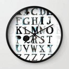 Alphabet 2 Wall Clock