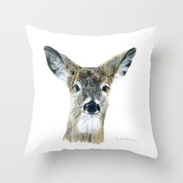 Doe Eyes by Teresa Thompson Throw Pillow