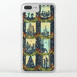 Christmas in the Windows Blue Clear iPhone Case