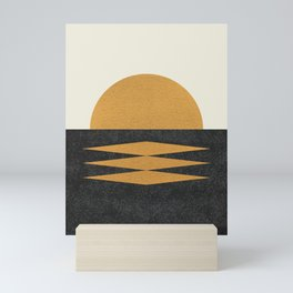 Sunset Geometric Midcentury style Mini Art Print
