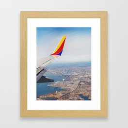 Flying over Baltimore, Maryland Framed Art Print