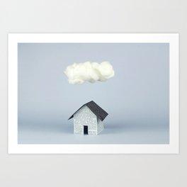 A cloud over the house Art Print