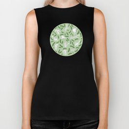 Cats And Cukes - Green Version Biker Tank