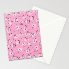 Cats Pink Stationery Cards