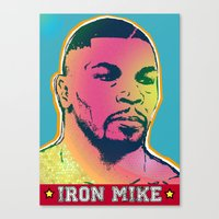 mike tyson Canvas Prints featuring Mike Tyson by RDotA Grapfiks