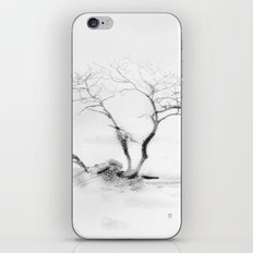 Scots Pine, Gray iPhone & iPod Skin