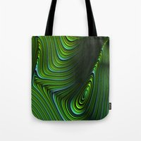 malachite Tote Bags featuring Malachite by Vix Edwards - Fugly Manor Art