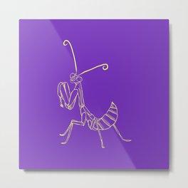 Feeler solo purple Metal Print