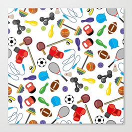 Children's Sport Pattern Canvas Print