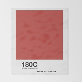 PANTONE COLOR PARODY COLOR- Angry makeup sex Throw Blanket