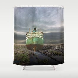 atmosphere · stranded Shower Curtain