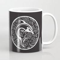 maori Mugs featuring Black Maori Dolphin by freebornline