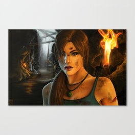 Braving the Caverns Canvas Print