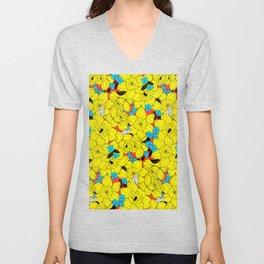 Daffodils spring floral pattern Unisex V-Neck