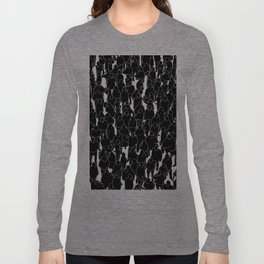 Public assembly B&W inverted / Lineart people pattern Long Sleeve T-shirt
