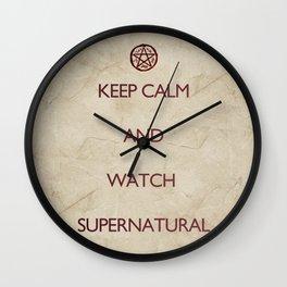 KEEP CALM and watch supernatural Wall Clock