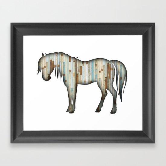 Wooden horse Framed Art Print