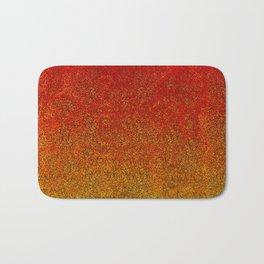 Flame Glitter Gradient Bath Mat