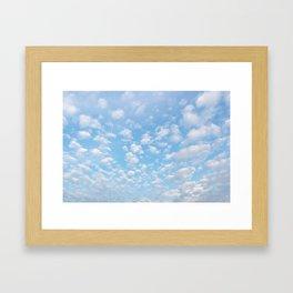 The bright blue sky in my backyard Framed Art Print