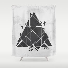PLACE Triangle V2 Shower Curtain