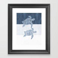 Sea Turtle Friends Framed Art Print