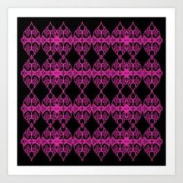 Luxury mandalas pink etnic Art Print
